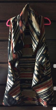 Narzutka ponczo kamizelka sweter z wełną