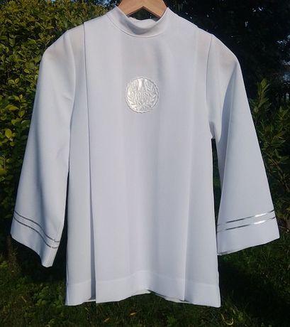 Alba koszula komunia chłopca chłopięca krótka komunijna biała chłopaka