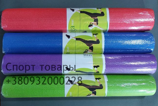 Коврик/йогамат для фитнеса однослойный 173 х 61 х 0,3см