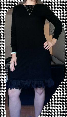 Чёрное платье котон