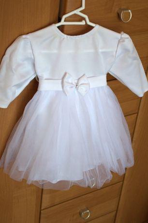 Sukienka do Chrztu rozm. 68 komplet