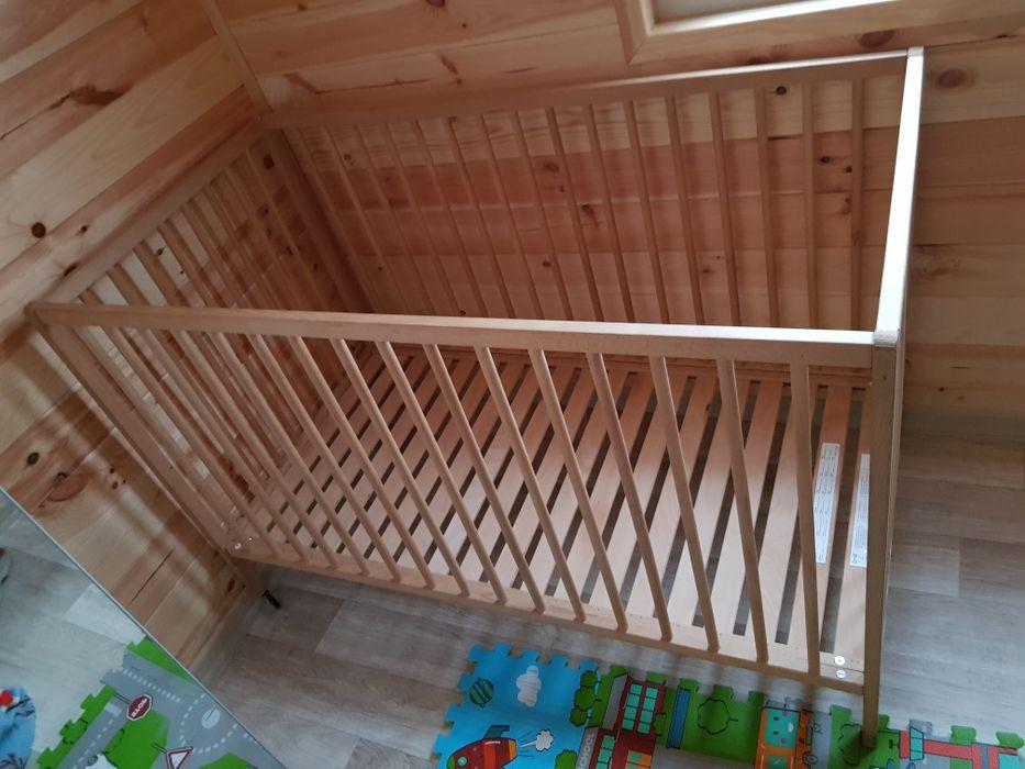 120×60 łóżeczko Ikea drewniane Warszawa - image 1