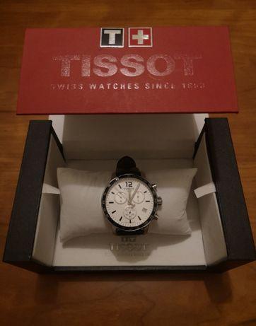 Relógio Tissot Quickster Chronograph, branco (Em bom estado)