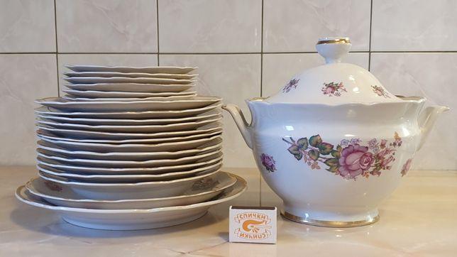 Набор посуды керамика супница тарелки блюда салатницы 30 предметов