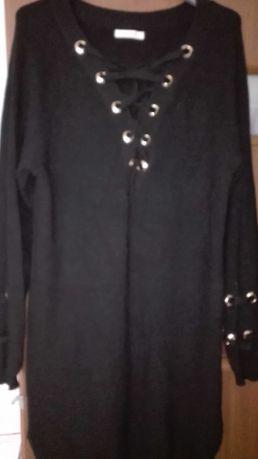 Długi sweter czarny