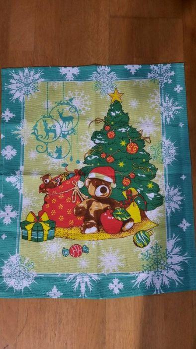 Новогоднее вафельное полотенце для кухни Вышгород - изображение 1