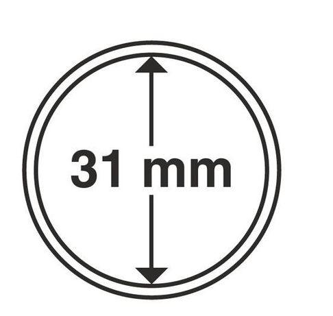 Капсулы для монет 31mm с рантой на 10 грн цинк НБУ100шт Schulz Польша