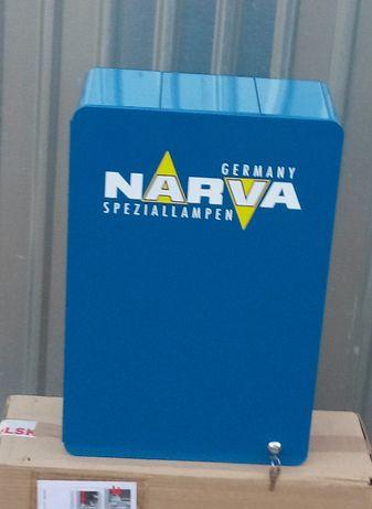 PEŁNA szafka + żarówki samochodowe stojak NARVA 370szt żarówek 12V