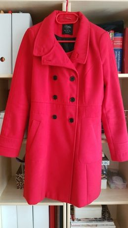 !OKAZJA! Czerwony płaszcz ZARA jak nowy