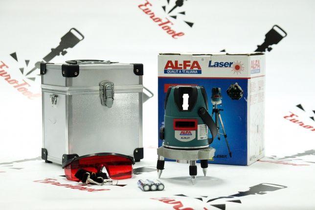 Лазерный уровень, нивелир AL-FA ALNL01 луч 30м 5 линий 6 точек