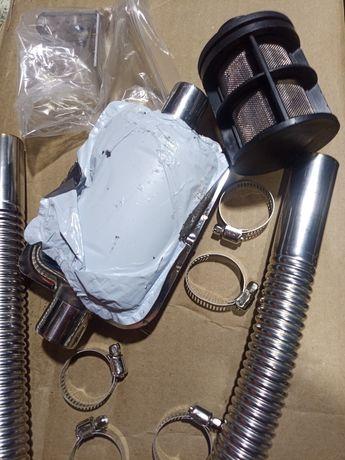 Система выхлопа газов для дизельного подогревателя.