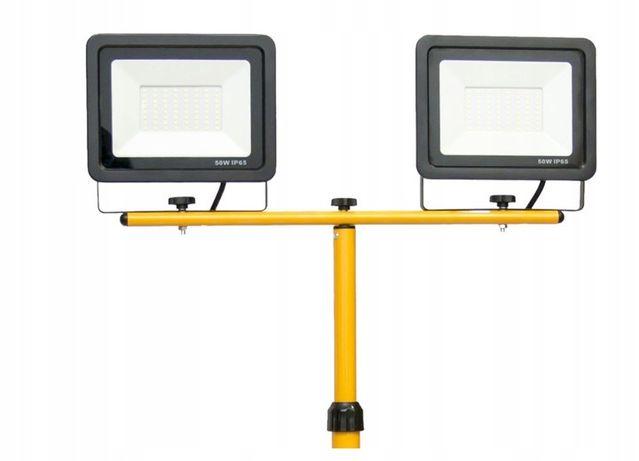 LED Halogen statyw roboczy stojak 2x30W Lampa 60W! 1500zl