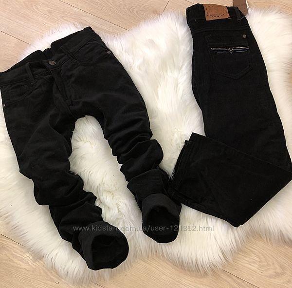 вельветовые штаны чёрные форма школа 122-128-134-140-146-152см Кривой Рог - изображение 1