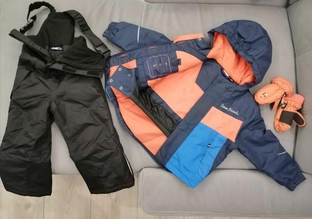 Komplet Lupilu Kurtka zimowa+spodnie ocieplane 86/92 + rękawiczki