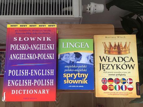 Slowniki do angielskego plus ksiazka wladca jezykow