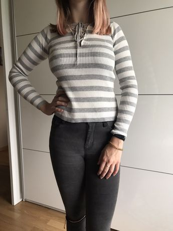 Bluzka sweterek 36 s wiązana paski