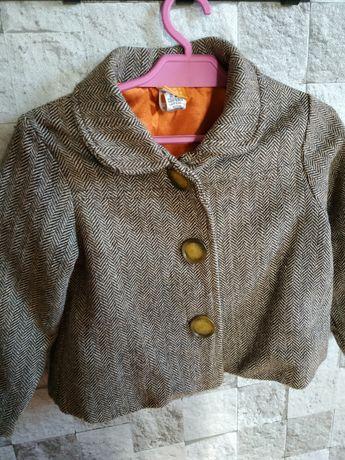Płaszczyk 86-92 dla dziewczynki jodełka wiosna jesień  mini mode