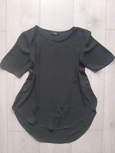 Szyfonowa bluzka ciemny khaki Rozm 34