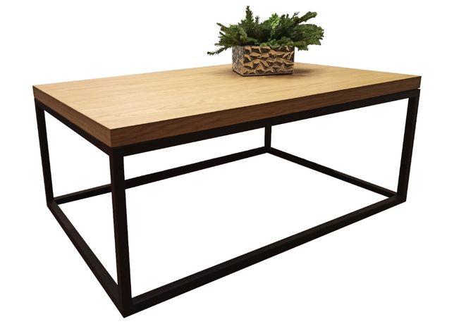 Stolik kawowy loftowy industrialny loft nowoczesny drewniany metalowy