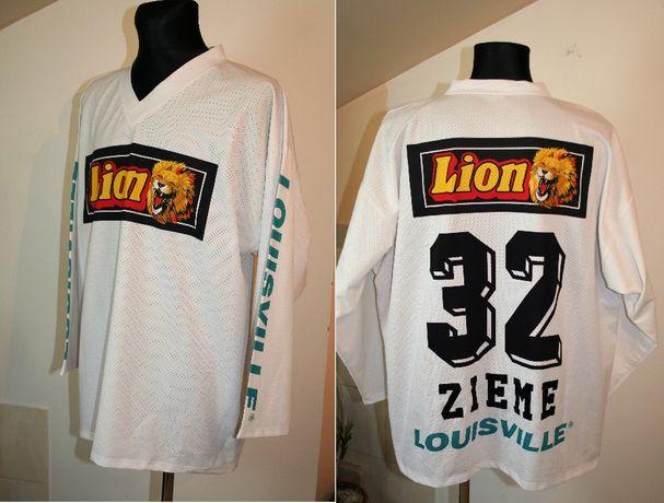 Męska Biała Bluza logo * Lion * sportowa Bluza/Myron/rozmiar: XXL