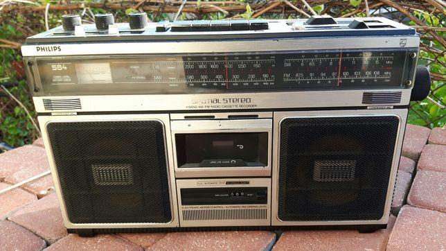 Stary radiomagnetofon Philips model 584
