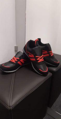 Buty sportowe męskie młodzieżowe adidasy ekoskóra czarne nowe 42-46