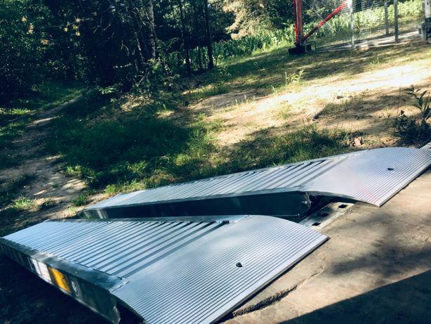 Najazdy Aluminiowe / Przyczepka / *do 3T *1.5m *20Kg Para / TUV / F.V