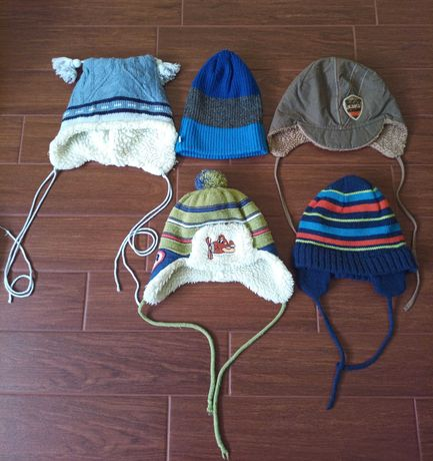 czapki na chłopca w wieku 24-36 m-cy