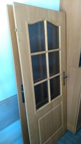 Skrzydła drzwiowe Porta 80 1x lewe i 1x prawe Londyn przeszklone