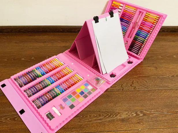 Набор для творчества 208 (10шт) фломаст,краски,карандаши,мелки,мольбер
