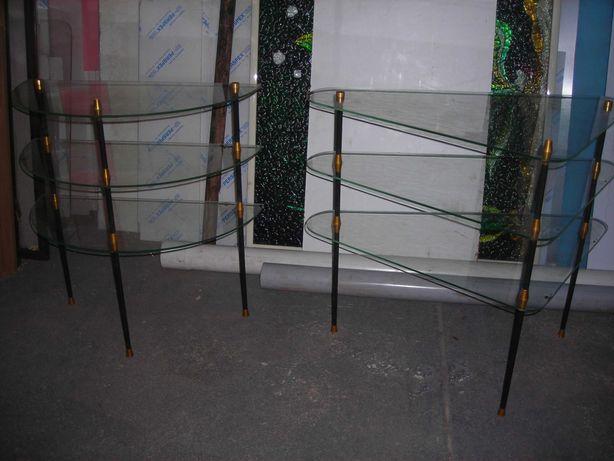 Prateleiras de vidro para montra