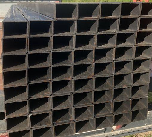 Profil stalowy czarny 60x40x2 profil na bramy ogrodzenia balustrady