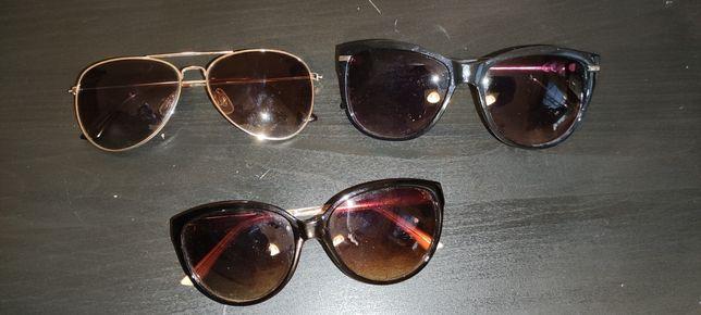 Okulary przeciwsłoneczne 3 pary