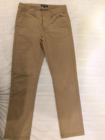 Tommy Hilfiger calças bege rapaz tam. 12 usadas em ótimo estado