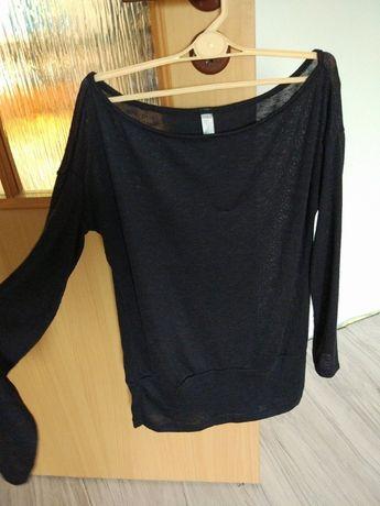 Czarny cienki sweter