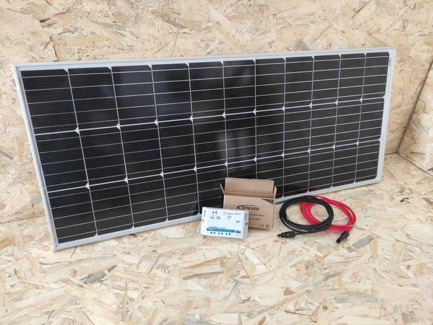 KIT Painél Solar 100W 12V + Controlador Epever 20A + Cabos