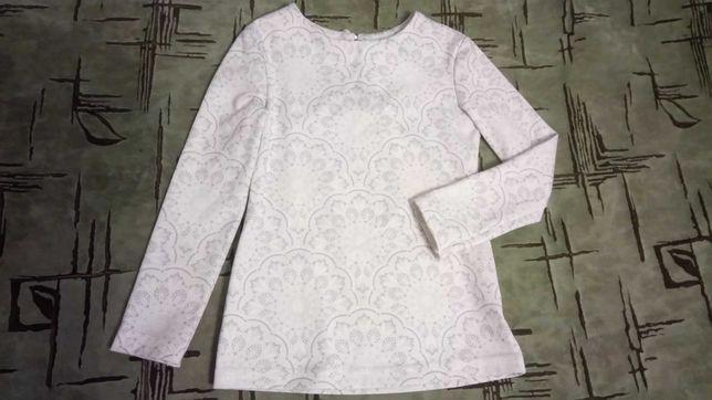 Белая праздничная кофточка, блузка на девочку 2-3 года