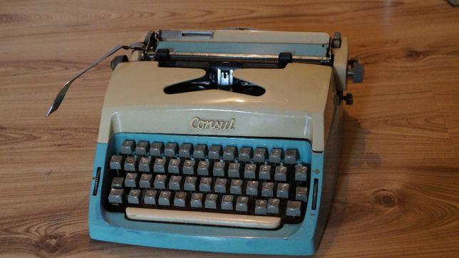maszyna do pisania consul vintage z walizką
