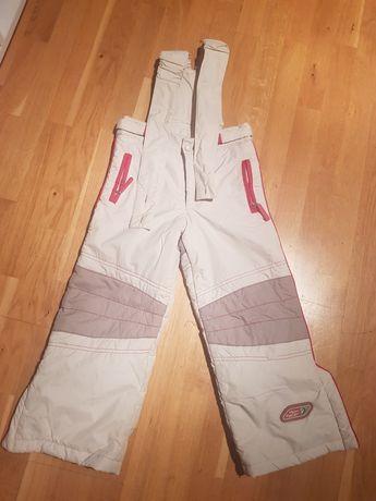 Spodnie narciarskie z odpinanym szelkami / 116 cm