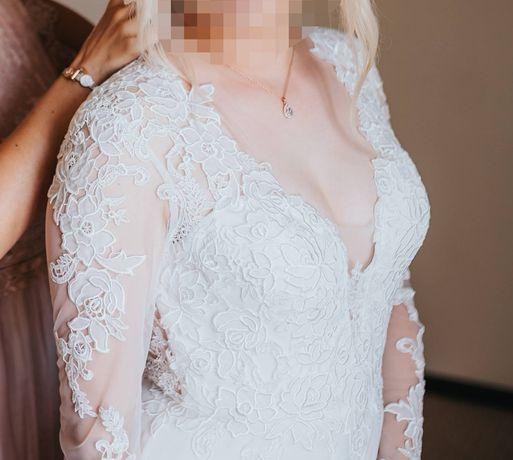 Przepiękna suknia ślubna r. 38 w stylu boho