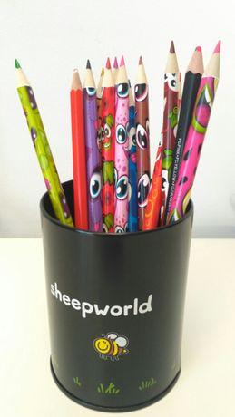 Sheepworld na kredki pisaki długopisy...