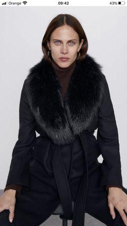 Zara-piekny plaszcz welna nowy M