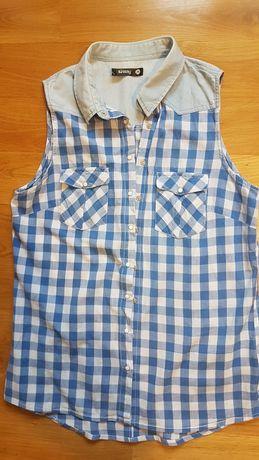 Koszula, krótki rękaw, krateczka, Sinsay M