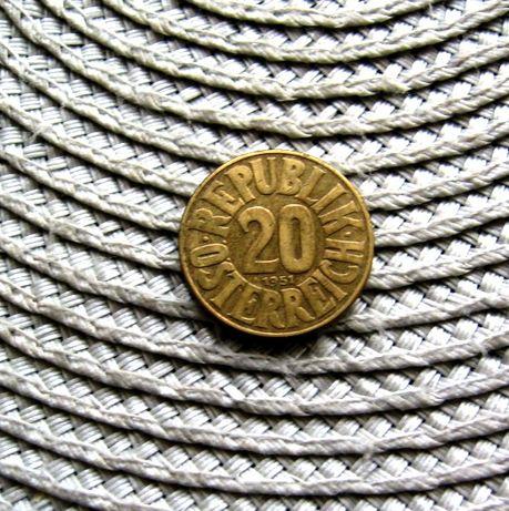 Austria 20 Groshen 1950r 1951r 1954r