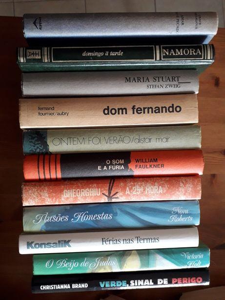 11 livros de capa dura, vários autores