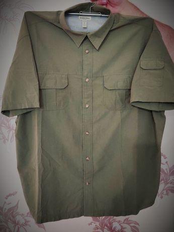 Рубашка мужская хлопок большого размера 50 см. воротник