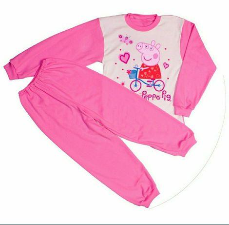 Пижама для девочки розовая с рисунком Свинка Пеппа