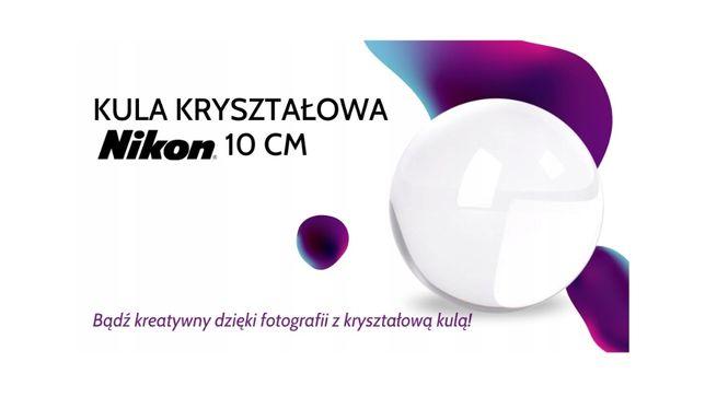 Kula kryształowa NIKON 10cm fotografia refrakcyjna