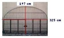 Antigas grades para jardim, quinta ou canil