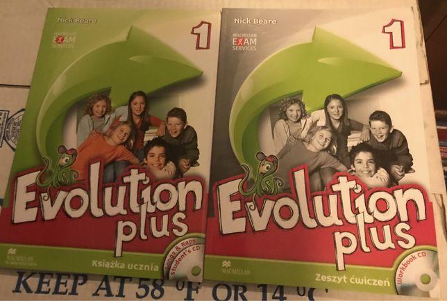 Evolution Plus 1 Macmillan Student's Book + Workbook + CDs NOWY